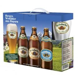 Geschenkset Grünbacher Weißbier mit Glas