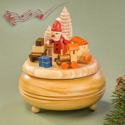 Musikdose Weihnachtsmann 14x13cm